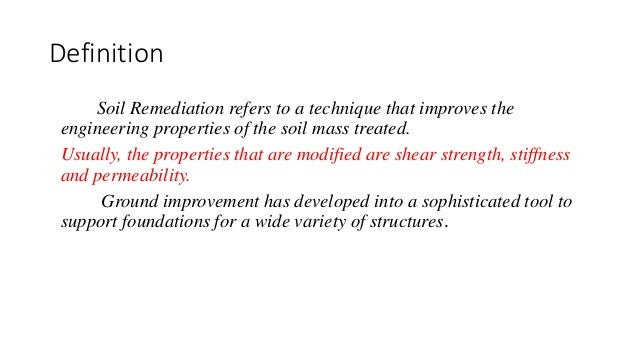 Soil remediation for What is soil definition