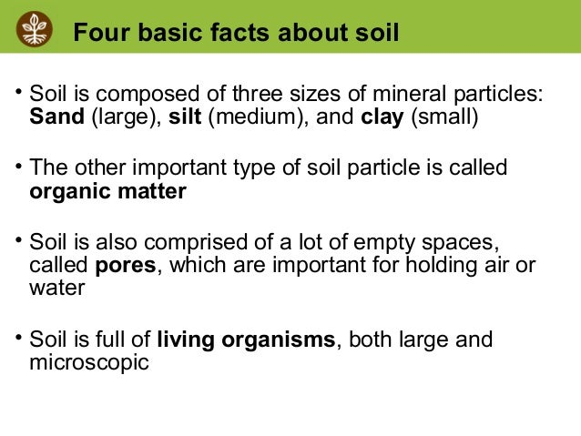 Soil biology for Information about different types of soil