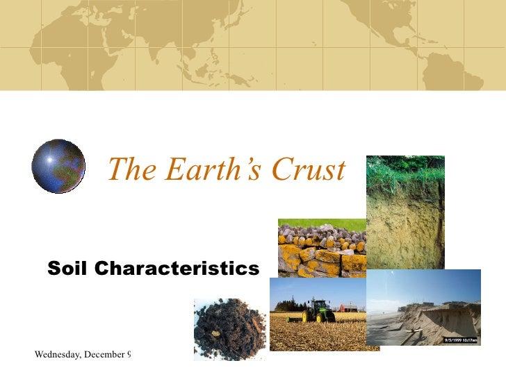 The Earth's Crust Soil Characteristics