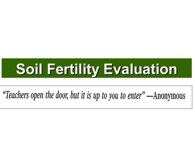 Soil fertility evaluation  P K MANI