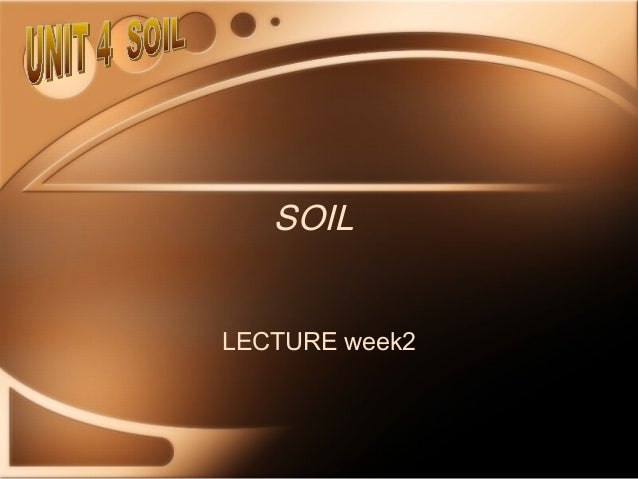 SOILLECTURE week2