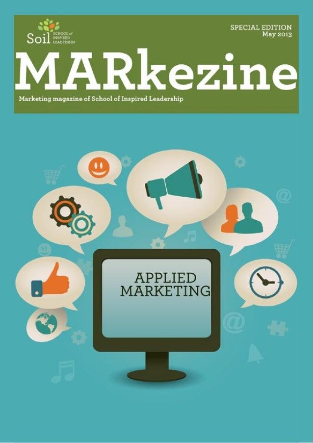 Soil Markezine magazine, May 2013