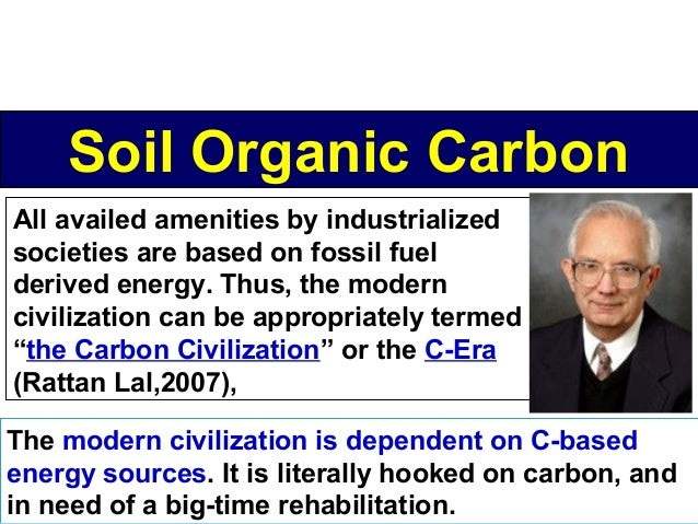 Soil Organic Carbon All availed amenities by industrialized societies are based on fossil fuel derived energy. Thus, the m...