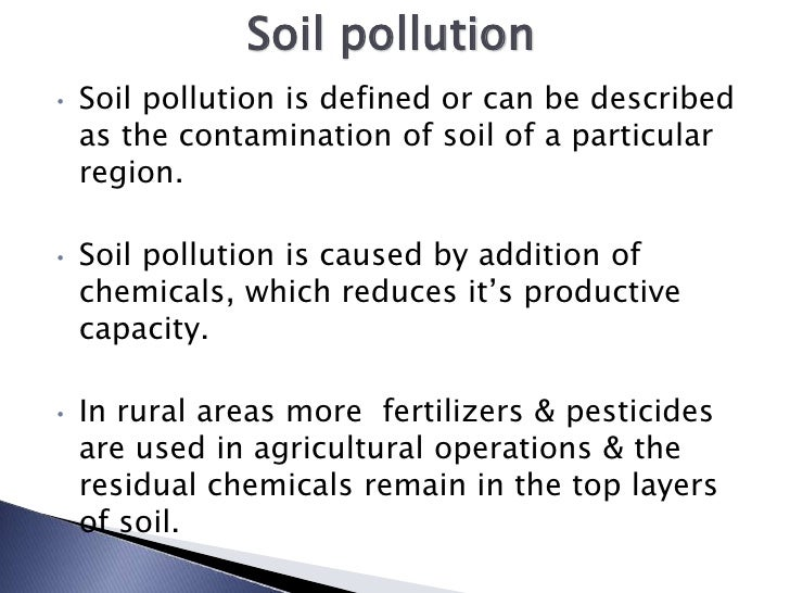 Soil pollution by nikhil pakwanne for Introduction of soil