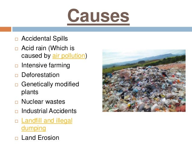 essay on effects of land pollution on human health Essay about gmf and effects on human health the amounts of pollution and land plundering and the more about plastic pollution and the effects on human health.