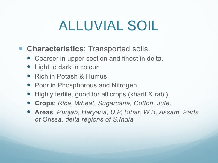 Soils of india for What are soil characteristics
