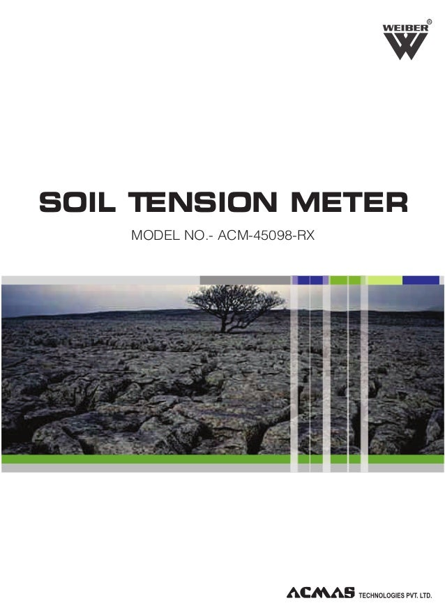 R  SOIL TENSION METER MODEL NO.- ACM-45098-RX