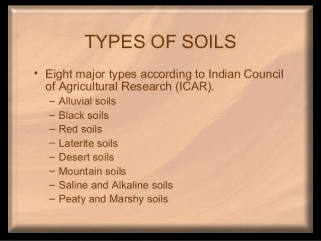 Soil types found in india for What is found in soil