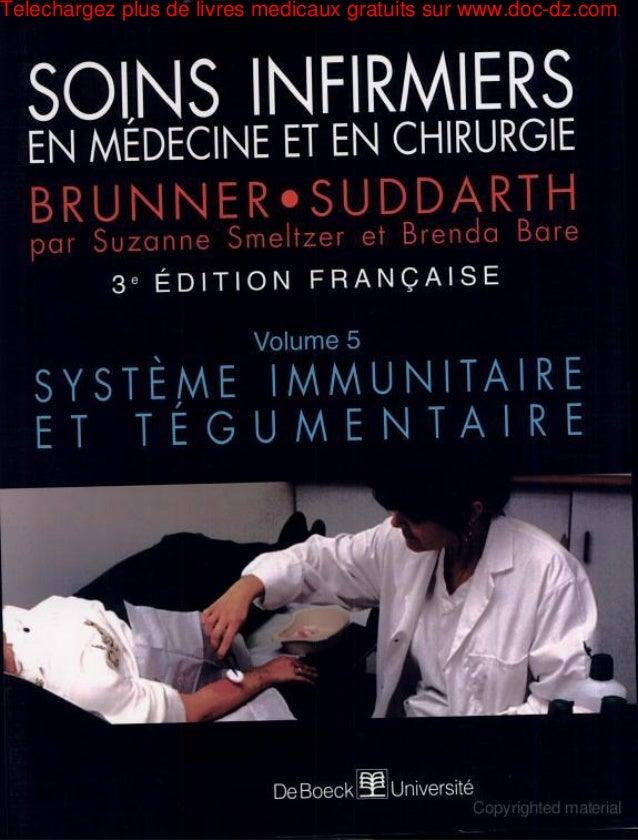 Soins infirmiers en médecine et en chirurgie systeme immunitaire et tégumentaire 315 de 323 pages en exclusivité pour doc dz