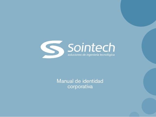 Manual identidad - Sointech