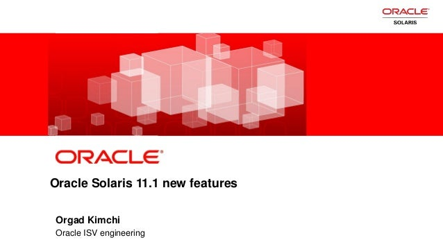 Oracle Solaris 11.1 New Features