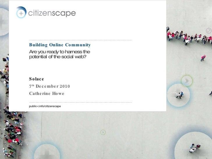 Solace Graduates conference (london) (7.12.10)