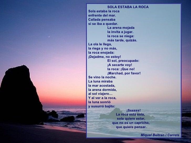 Poemas infantiles Educacion Emocional:Sola estaba la roca