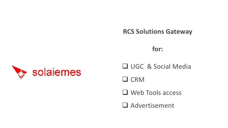Solaiemes RCS Solution Gateway