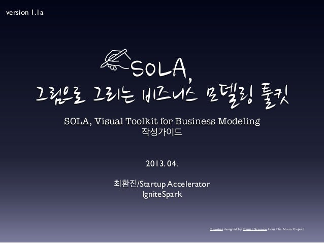 SOLA, 그림으로 그리는 비즈니스 모델링 툴킷