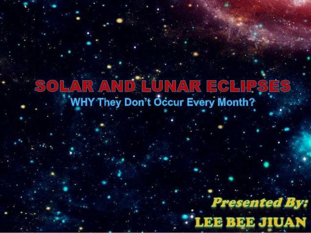  A Solar Eclipse occurs when the Moon comes between the Earth and theSun and casts a shadow on the Earth. There are two ...