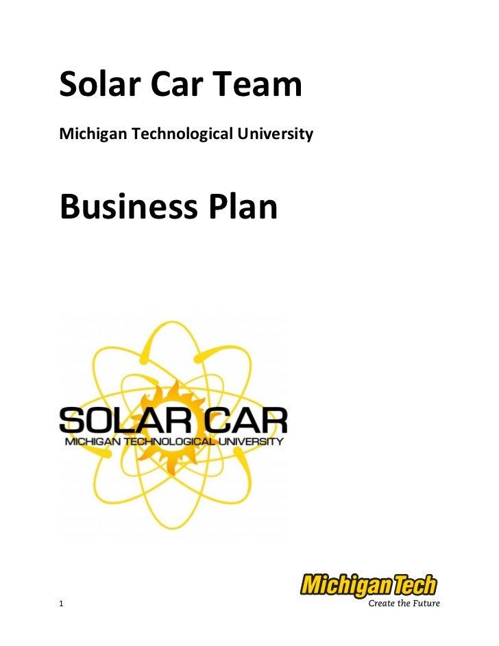 A Sample Solar Panel Installation Business Plan Template
