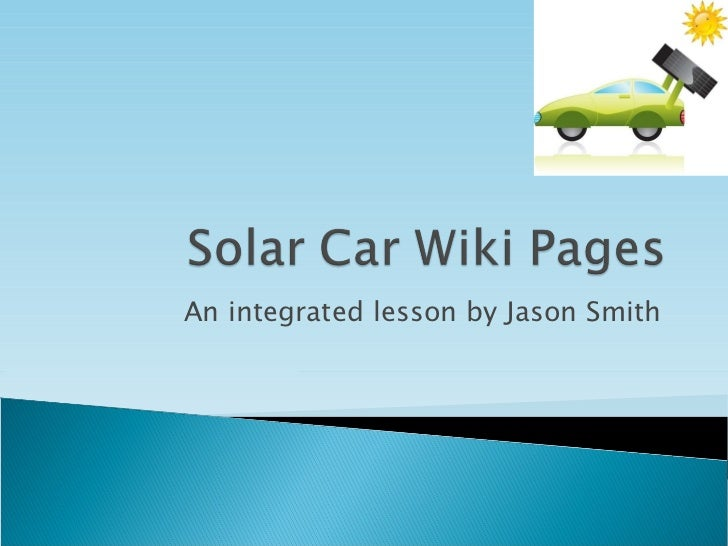 Solar car wiki pages