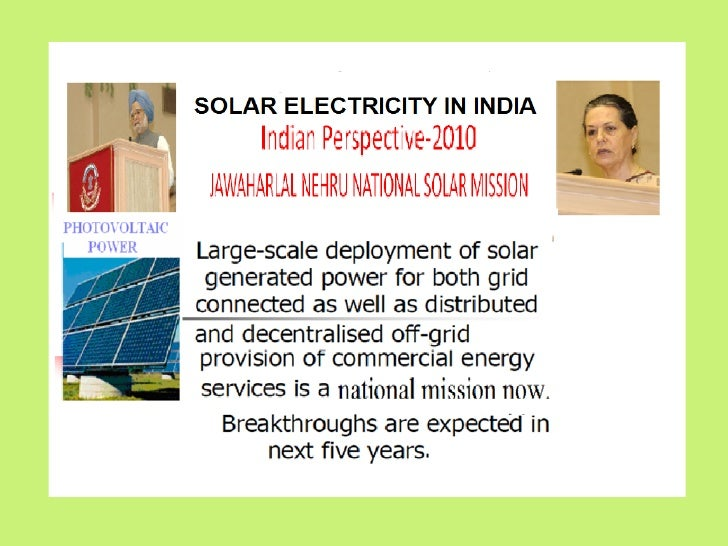 Solar Photovoltaic Electricity     Indian Perspective-2010