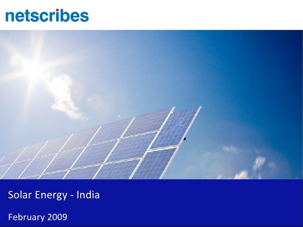 Solar Energy   India   Sample