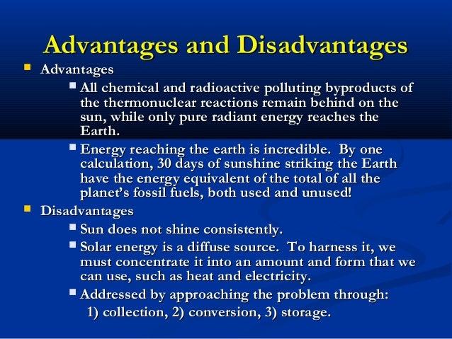 Solar Energy Solar Energy Advantages And Disadvantages List