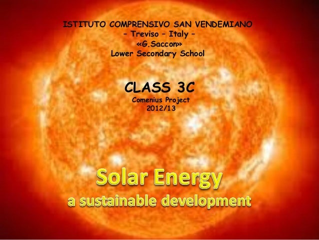 Solar energy2013