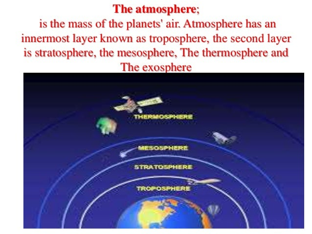 the atmosphere is the mass of the planets air atmosphere
