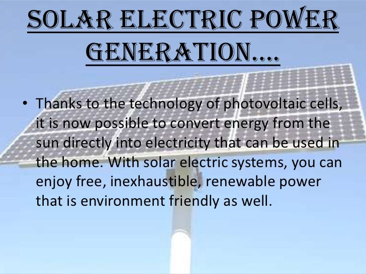 Project On Solar Energy