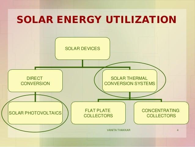 solar energy utilization solar devices direct conversion solar thermal ...