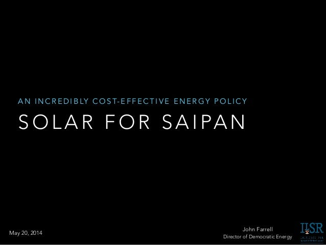 Solar Power for Saipan - Incredibly Cost-Effective