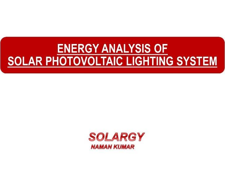 Solargy energy analysis