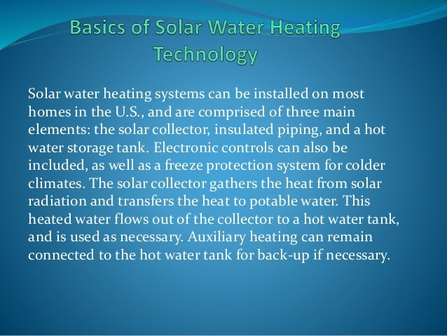 Solar Distillation System Solar Water Heating Systems