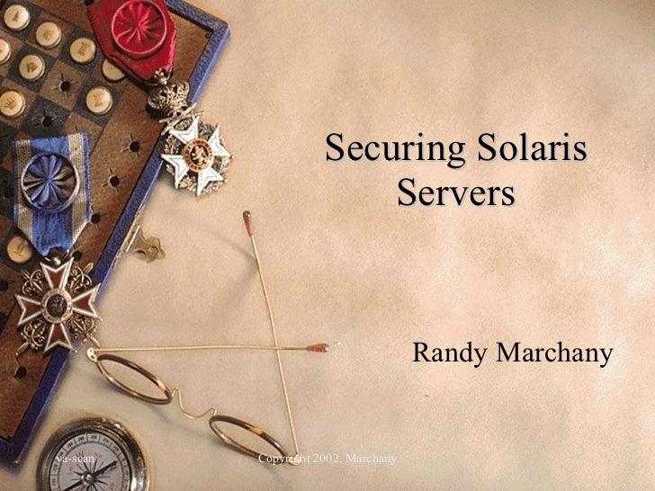 Solaris servers sec
