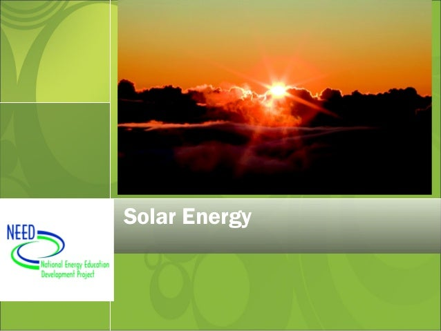 Solar need
