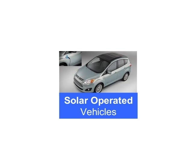 Solar Operated Vehicles