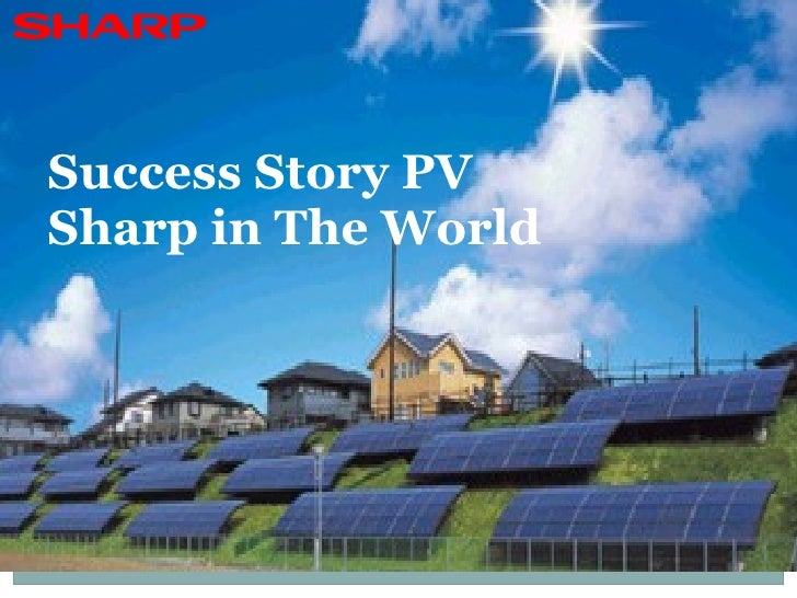 Success Story PV Sharp in The World