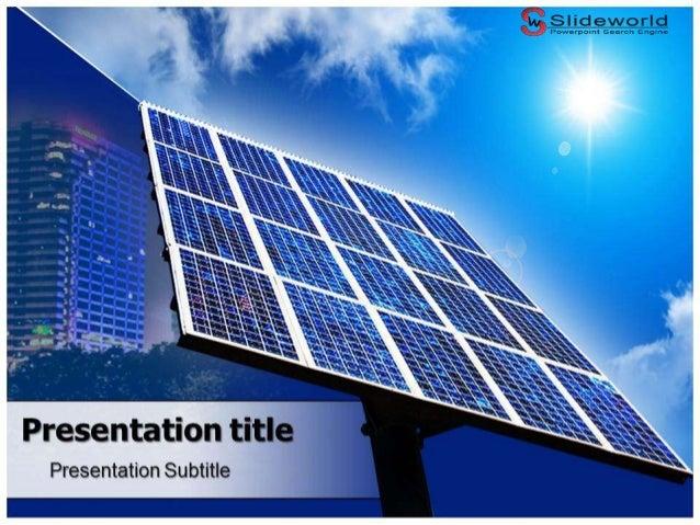 solar panels powerpoint template. Black Bedroom Furniture Sets. Home Design Ideas
