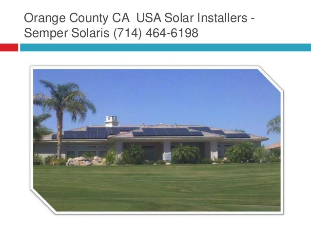 orange county ca solar semper solaris 714 464 6198