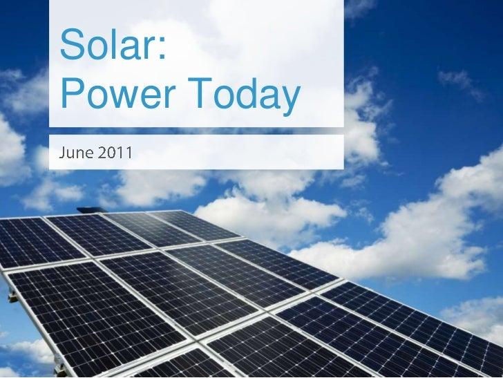 Solar:Power Today<br />June 2011<br />