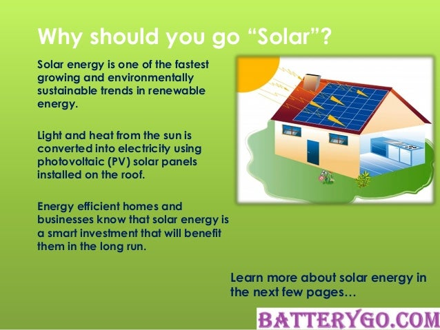Why to go solar Benefits of going solar