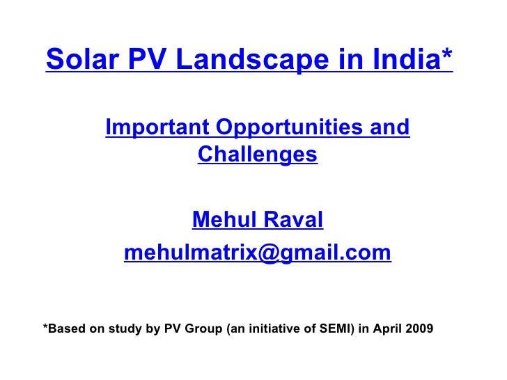 Solar PV landscape_india