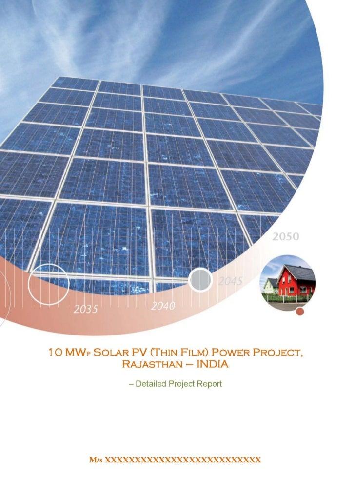 Solar pv thin film dpr1
