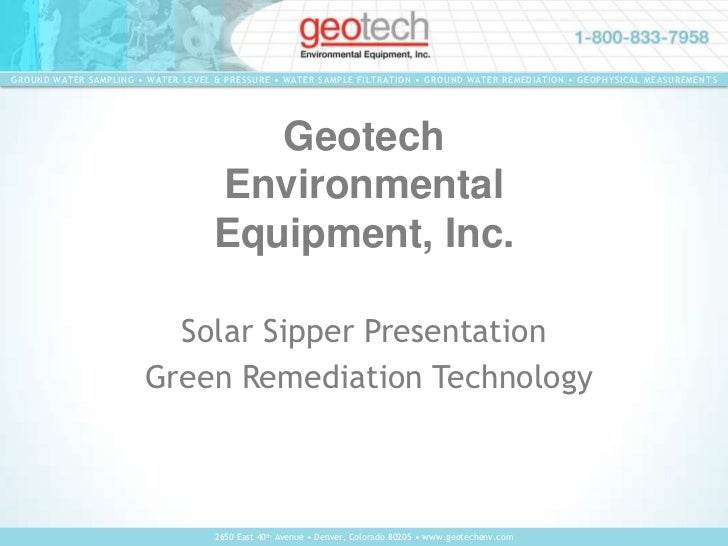 Solar Sipper Presentation