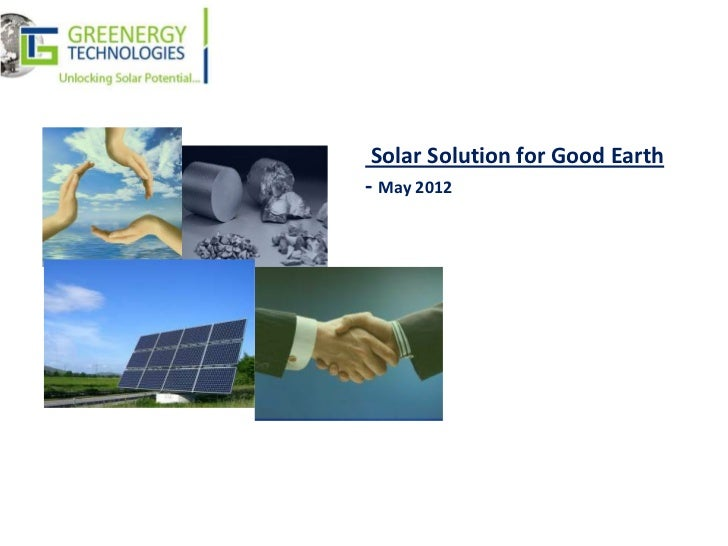 Solar Solution for Good Earth- May 2012