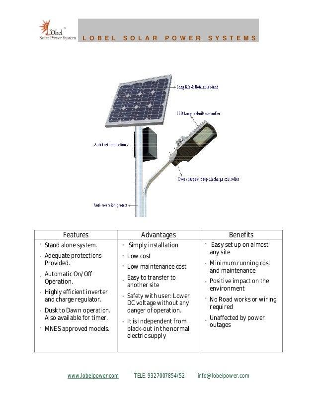 Solar High Power LED street light