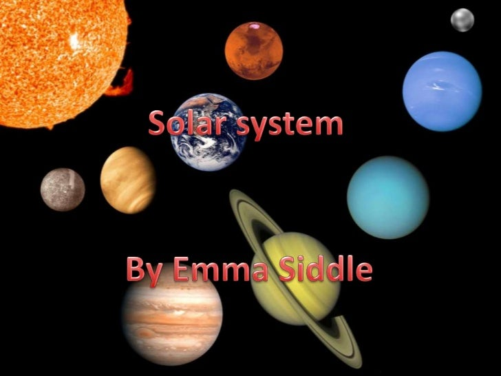 The solar system planets…