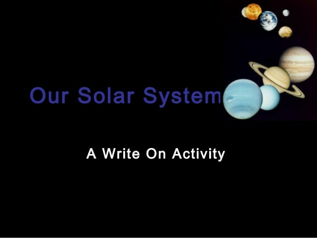 Our Solar SystemA Write On Activity