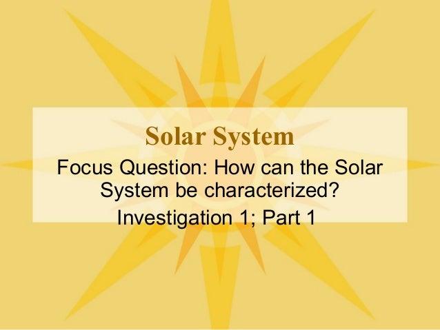 Solar System Data Inv. 1-1