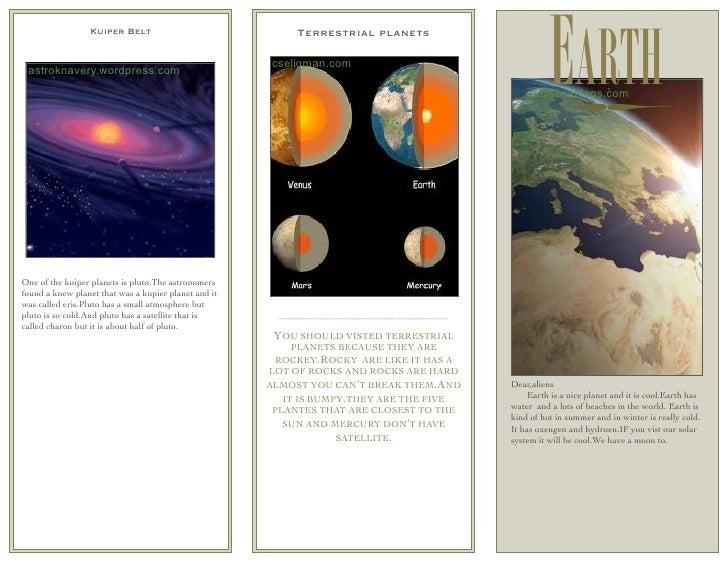 Erick's Solar System Brochure