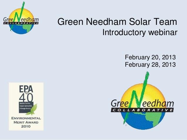 Solar team webinar